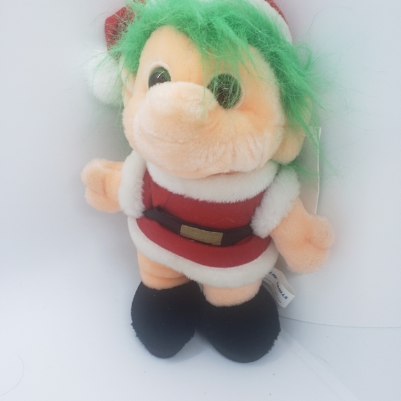 Vintage  Trolli doll dressed as Santa Clause